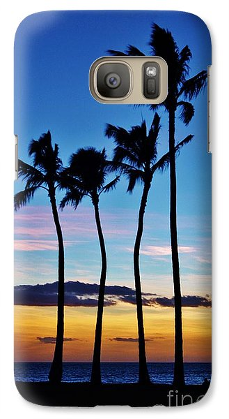 Galaxy Case featuring the photograph Hula Palms At Sunset by Craig Wood