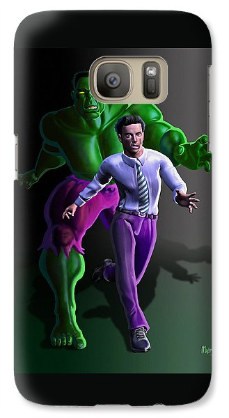 Galaxy Case featuring the painting Hulk - Bruce Alter Ego by Anthony Mwangi