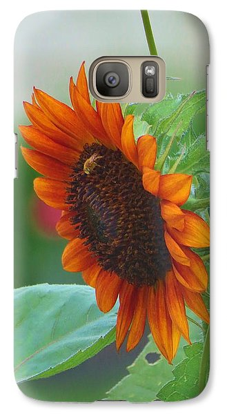Galaxy Case featuring the photograph Humility Of A Sunflower by Jeanette Oberholtzer