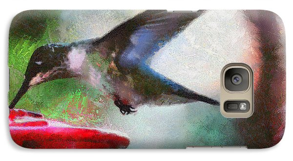 Galaxy Case featuring the painting Humming Bird Thirst by Wayne Pascall
