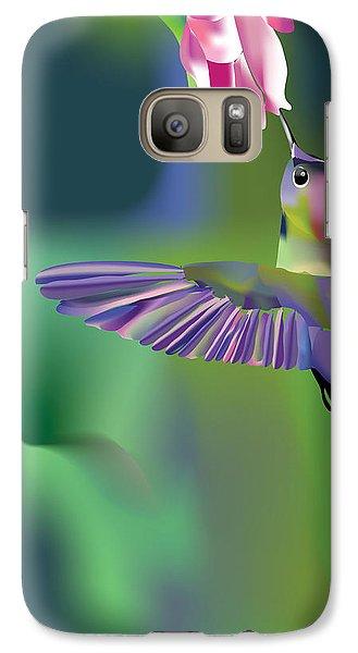 Galaxy Case featuring the digital art Hummingbird by Arline Wagner
