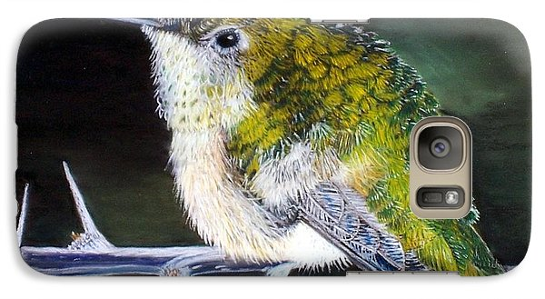 Galaxy Case featuring the painting Hummingbird by Debbie Baker