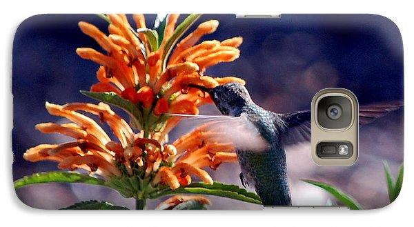 Galaxy Case featuring the photograph Hummingbird Delight by AJ  Schibig