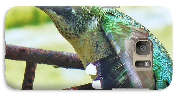 Galaxy Case featuring the photograph Hummingbird Details 6 by Judy Via-Wolff
