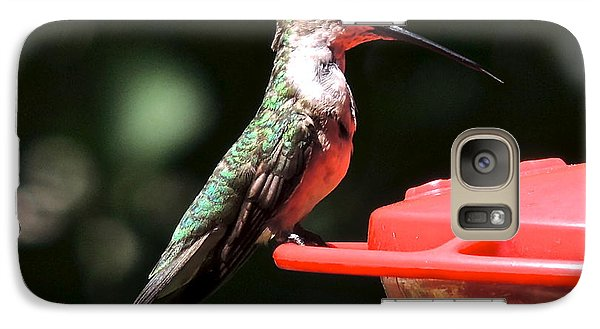 Galaxy Case featuring the photograph Hummingbird Feeding by Eve Spring