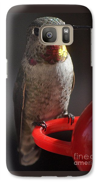 Galaxy Case featuring the photograph Hummingbird Female Anna by Jay Milo