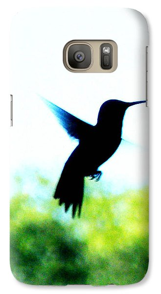 Galaxy Case featuring the digital art Hummingbird Hover by Lizi Beard-Ward