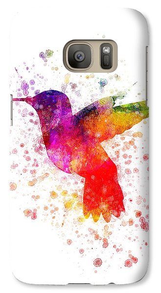 Hummingbird In Color Galaxy S7 Case by Aged Pixel