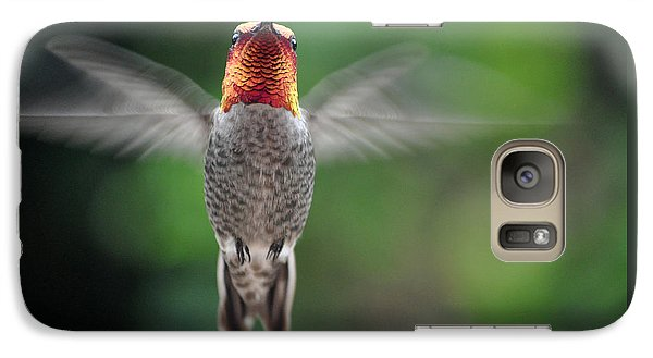 Galaxy Case featuring the photograph Hummingbird In Flight Male Anna by Jay Milo