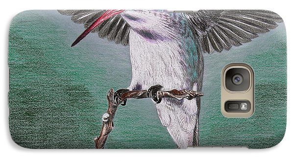 Galaxy Case featuring the drawing Hummingbird by Kume Bryant