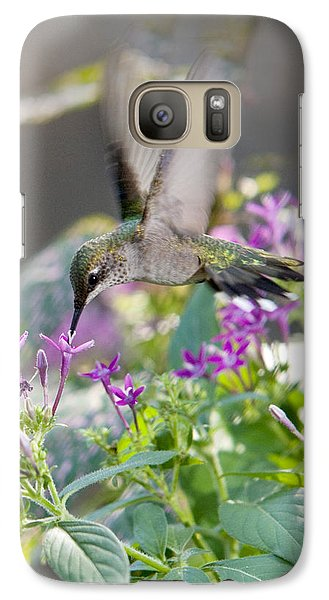 Galaxy Case featuring the photograph Hummingbird On Penta by Robert Camp