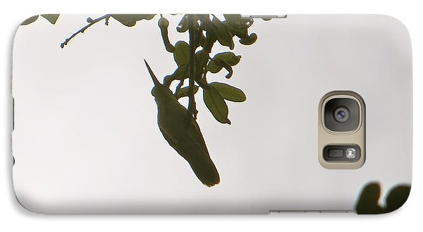 Galaxy Case featuring the photograph Hummingbird Silhouette 1 by Joy Hardee