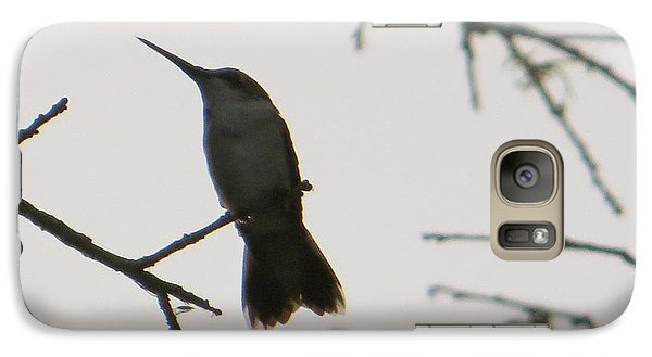 Galaxy Case featuring the photograph Hummingbird Silhouette 2 by Joy Hardee