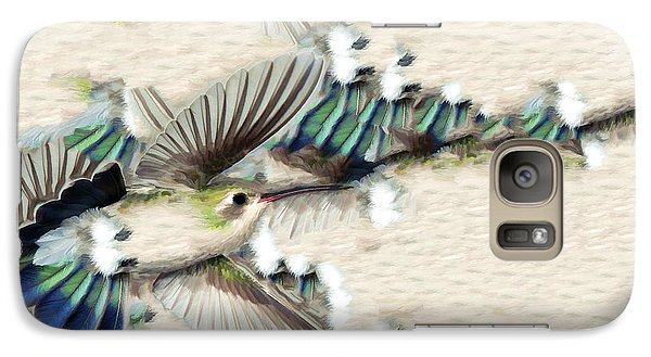 Galaxy Case featuring the photograph Hummingbird With Happy Feet by Gregory Scott