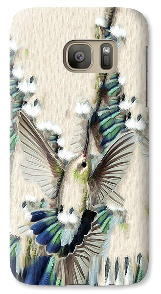Galaxy Case featuring the photograph Hummingbird With Happy Feet - Phone Case by Gregory Scott
