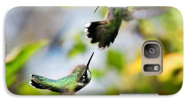 Hummingbirds Ensuing Battle Galaxy S7 Case by Christina Rollo