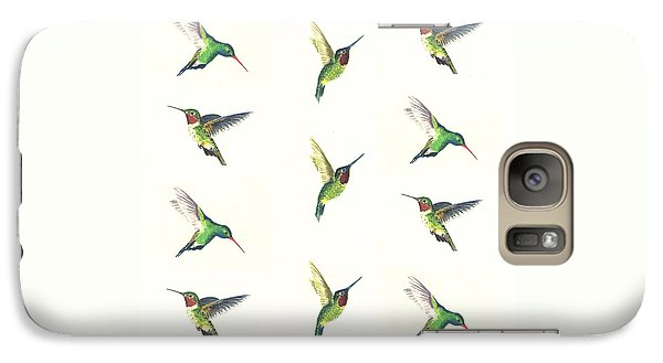 Hummingbirds Number 2 Galaxy Case by Michael Vigliotti