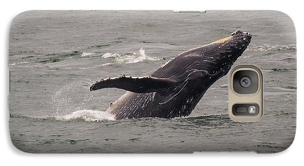 Galaxy Case featuring the photograph Humpback Whale Breaching by Janis Knight