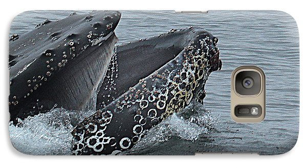 Galaxy Case featuring the photograph Humpback Whale  Lunge Feeding 2013 In Monterey Bay by California Views Mr Pat Hathaway Archives