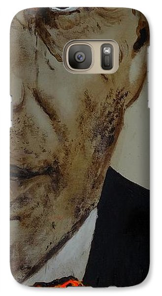 Galaxy Case featuring the painting Humphrey  Bogart #2 by Eric Dee
