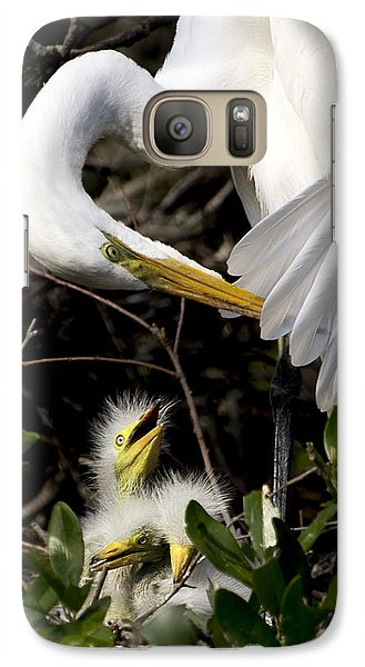 Galaxy Case featuring the photograph Hungry Babies by Kathy Ponce