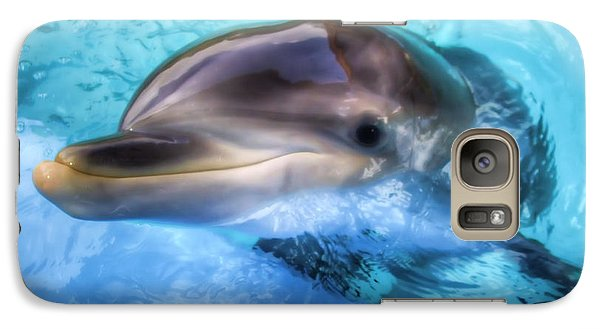 Galaxy Case featuring the photograph Hungry Dolphin by Tim Stanley