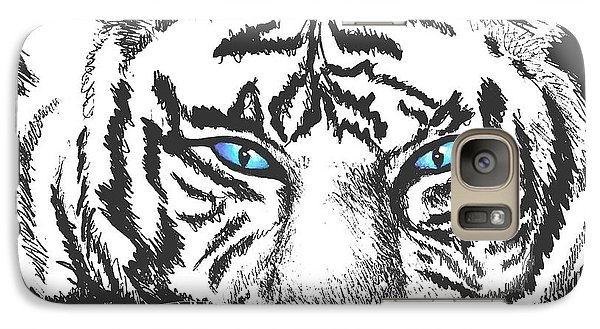 Galaxy Case featuring the drawing Hungry Eyes by Sophia Schmierer