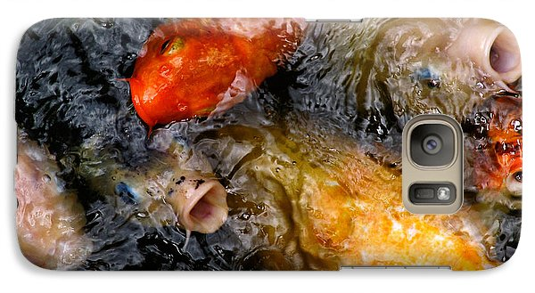 Galaxy Case featuring the photograph Hungry Koi Fish by John Swartz