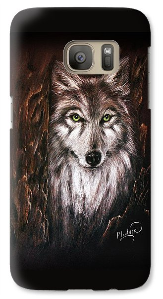Galaxy Case featuring the drawing Hunter In The Night by Patricia Lintner