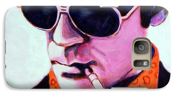 Galaxy Case featuring the painting Hunter S Thompson by Bob Baker