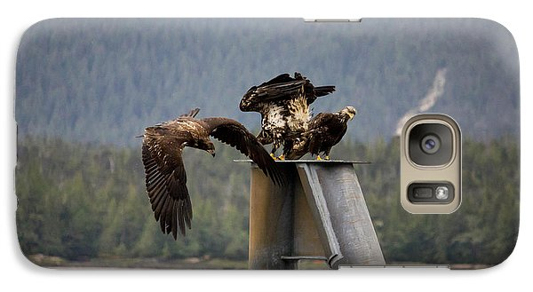 Galaxy Case featuring the photograph Hunting Birds by Timothy Latta