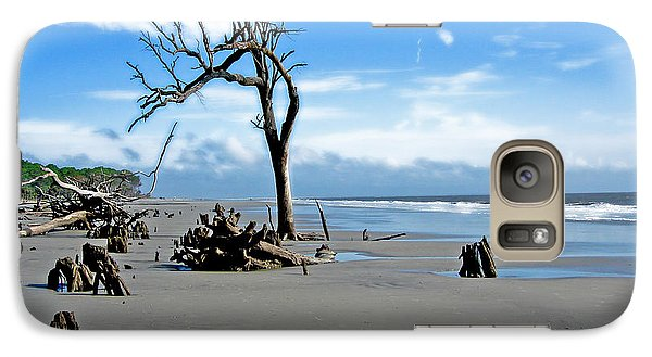 Galaxy Case featuring the photograph Hunting Island - 1 by Ellen Tully