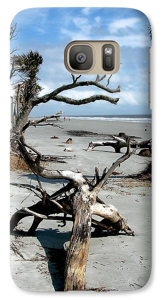 Galaxy Case featuring the photograph Hunting Island - 3 by Ellen Tully