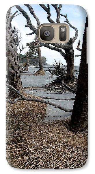 Galaxy Case featuring the photograph Hunting Island - 4 by Ellen Tully