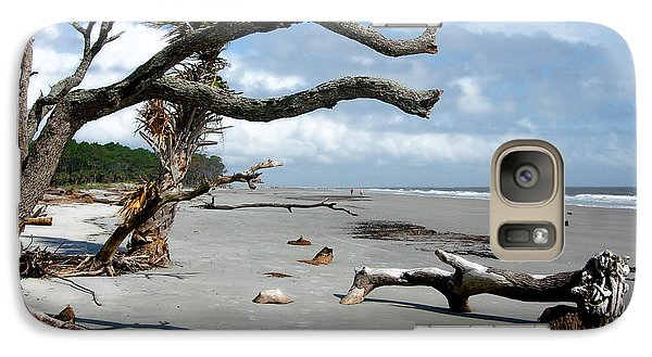 Galaxy Case featuring the photograph Hunting Island - 7 by Ellen Tully