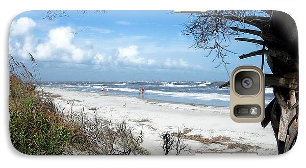 Galaxy Case featuring the photograph Hunting Island -8 by Ellen Tully