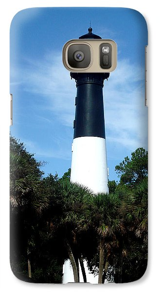Galaxy Case featuring the photograph Hunting Island Lighthouse by Ellen Tully