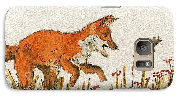 Mouse Galaxy S7 Case - Hunting Red Baby Fox by Juan  Bosco