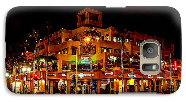 Galaxy Case featuring the photograph Huntington Beach Downtown Nightside 1 by Jim Carrell