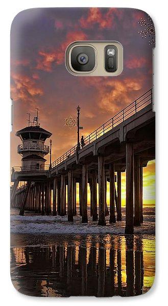 Huntington Beach Pier Galaxy S7 Case by Peggy Hughes