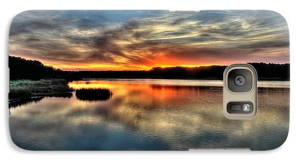 Galaxy Case featuring the photograph Huntington Beach Sunset by Ed Roberts