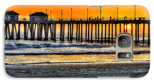 Galaxy Case featuring the photograph Huntington Beach Sunset by Jim Carrell