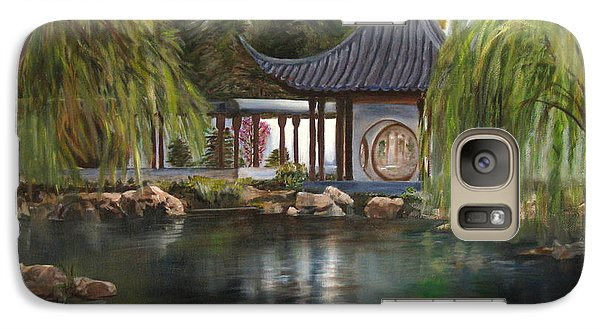 Galaxy Case featuring the painting Huntington Chinese Gardens by LaVonne Hand