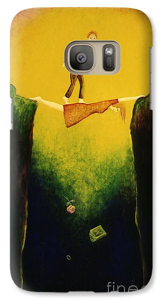 Galaxy Case featuring the painting Hurry Up Dear ... by Anna Skaradzinska