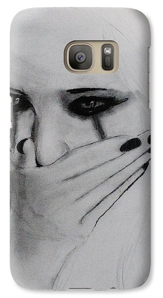 Galaxy Case featuring the drawing Hurt by Michael Cross