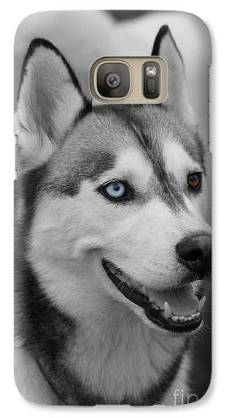 Galaxy Case featuring the photograph Husky Portrait by Vicki Spindler
