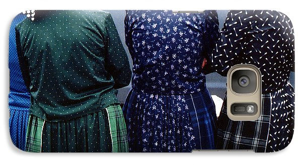 Galaxy Case featuring the photograph Hutterite Women At The Market by Gerry Bates