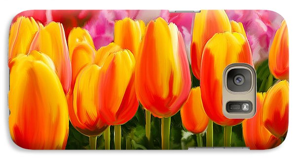 Galaxy Case featuring the painting Hybrid Tulips by Tim Gilliland