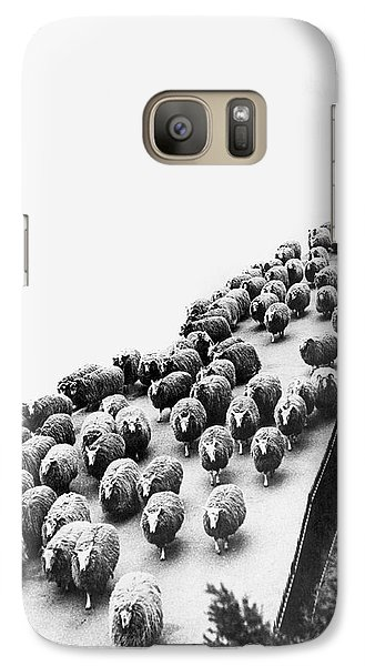 Hyde Park Sheep Flock Galaxy S7 Case by Underwood Archives