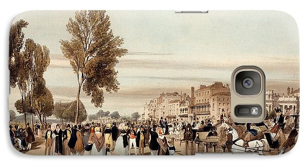 Hyde Park Galaxy S7 Case - Hyde Park, Towards The Grosvenor Gate by Thomas Shotter Boys
